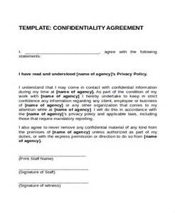 confidentiality contract template 17 agreement templates free sle exle format