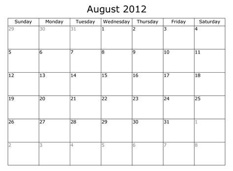 august 2012 calendar template printable calendar free calendar 2012 calendar