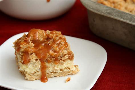 paula deen caramel apple cheesecake bars with streusel topping caramel apple cheesecake bars
