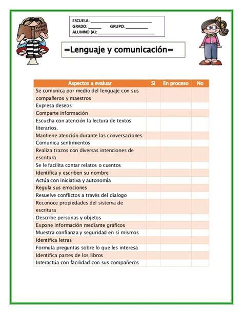 planeacion de segundo grado primaria lista de cotejo lista de cotejo de preescolar lista de asistencia