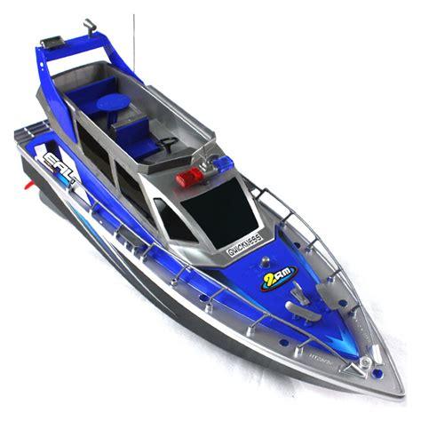 big remote control boats remoto contrrol 4 channel police speed rc boat full