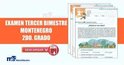 cuestionario de espaol montenegro quinto grado bloque iv examen tercer bimestre montenegro segundo grado material
