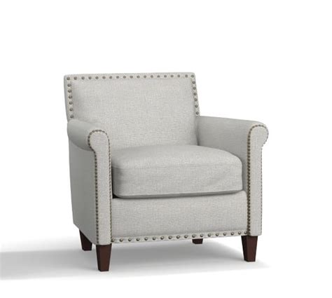 Upholster Armchair by Soma Roscoe Upholstered Armchair Pottery Barn