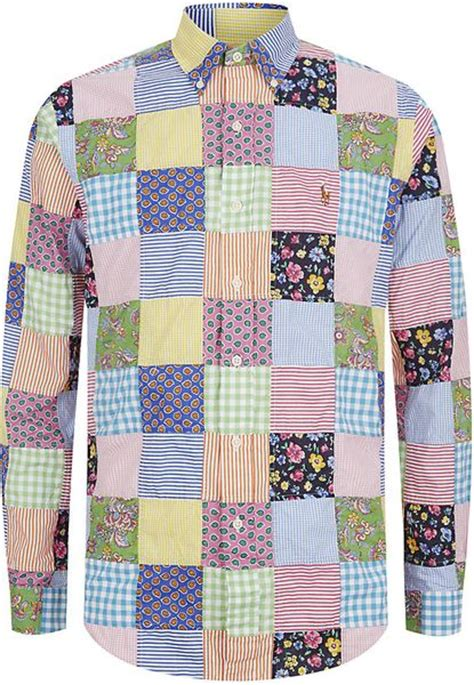 Ralph Patchwork - polo ralph cotton patchwork shirt in multicolor for