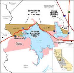 california reservoirs map san luis reservoir wildlife area