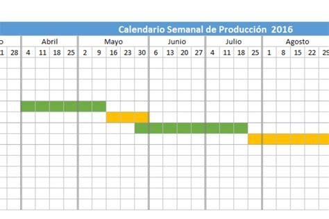 Calendario Colombia 2017 Excel Planilla De Excel Calendario De Producci 243 N 2016