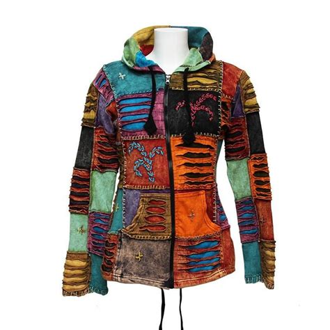 Patchwork Hoodie - nepalese patchwork torn hoodie the hippy clothing co