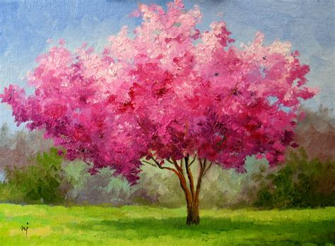 cherry bloosom tree nel s everyday painting cherry blossom tree sold