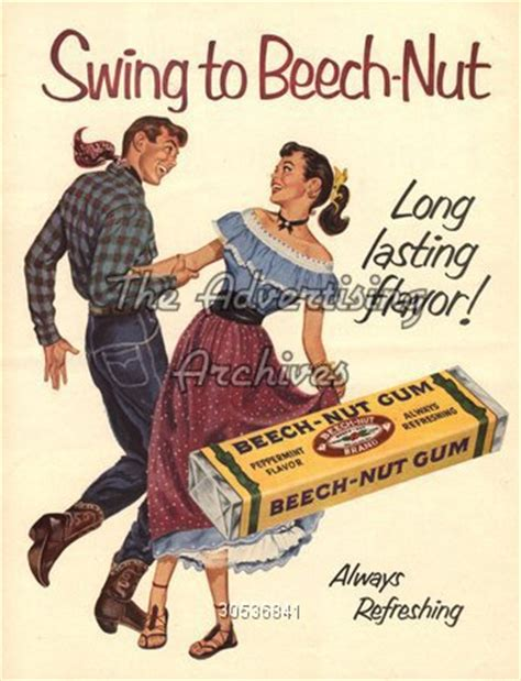 vintage tv commercials from the 1940s 50s 7 ads the advertising archives magazine advert beech nut gum
