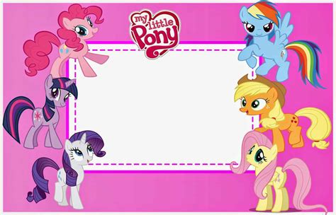 my little pony printable party decorations my little pony birthday invitations birthday party