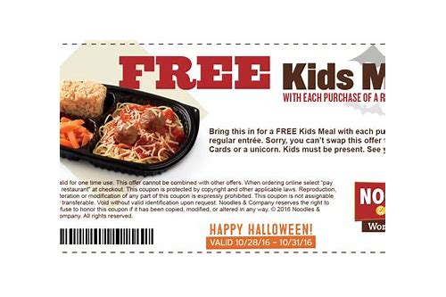 free entrees coupons