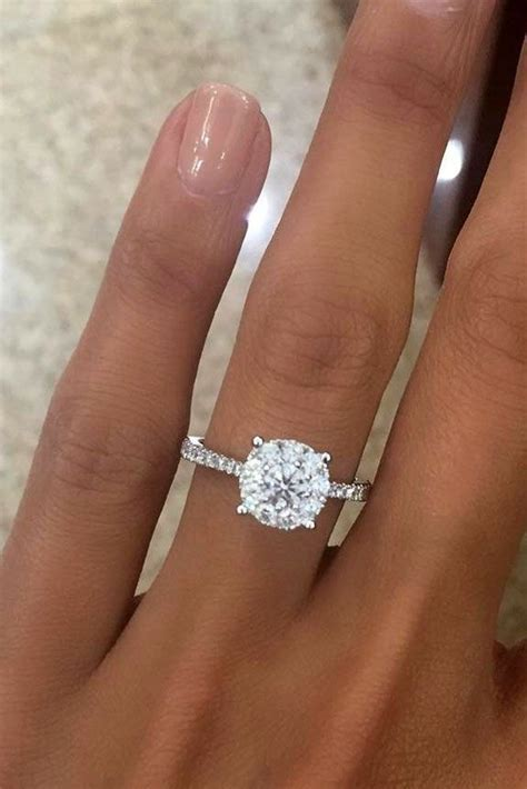36 Top Round Engagement Rings   Engagement/Wedding rings