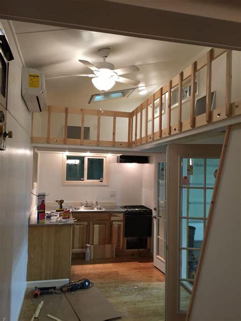 white interior tiny housetiny home  lofts  catwalk