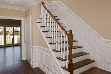 Wainscoting Up Stairs by New Stairway With Wainscoting Traditional Staircase