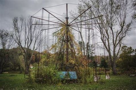 haunted swing ride the haunted and abandoned lake shawnee amusement park in