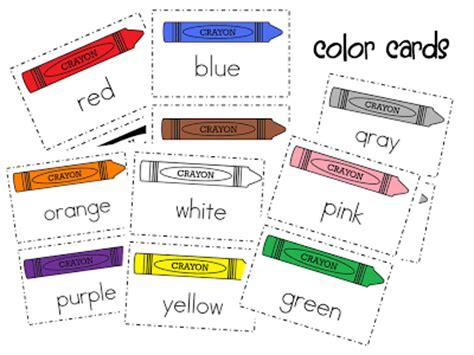 free color crayon name card template color words freebie mrs wills kindergarten