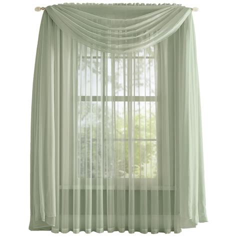 sheer curtain scarf elegant sheer curtain scarf by collections etc ebay