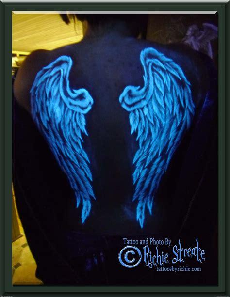black angel tattoo zugló black light tattoos uv blacklight angel wings tattoo