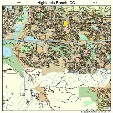 highlands ranch colorado map highlands ranch colorado map 0836410