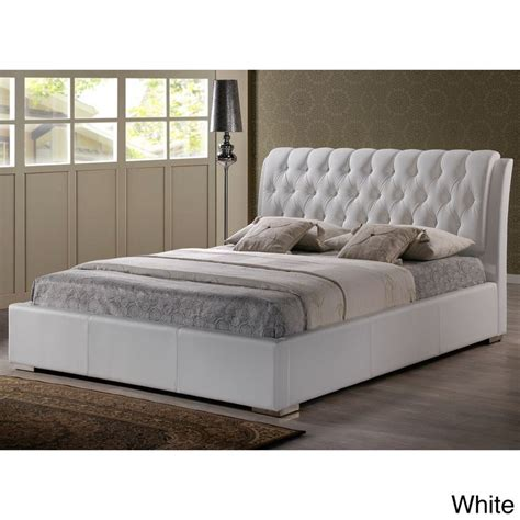 plywood platform bed baxton studio bianca modern and contemporary faux leather