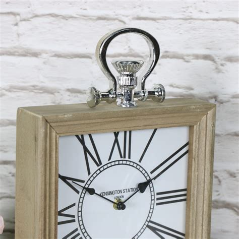 wooden desk clock square wooden vintage mantel desk clock melody maison 174