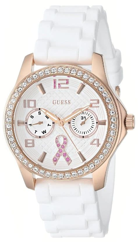 Guess Gold White watches white guess s u0032l3
