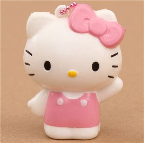 Squishy Helo hello squishy charm with kawaii cat with pink ribbon hello squishies