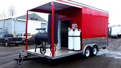Food Truck Floor Plans concession food trailer with smoker deck youtube