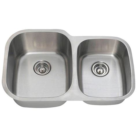 Home Depot Undermount Kitchen Sink Polaris Sinks Undermount Stainless Steel 32 In Basin Kitchen Sink Pl305 18 The Home Depot