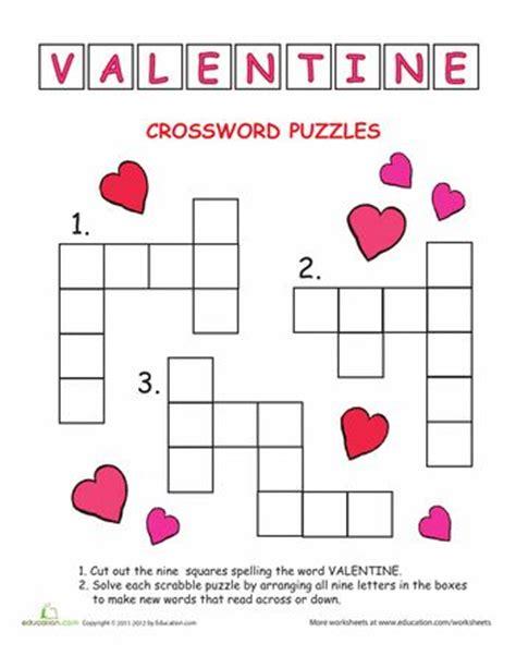 valentines puzzle crossword s day
