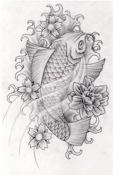 black koi fish tattoo designs corey design gallery by randall vaughan
