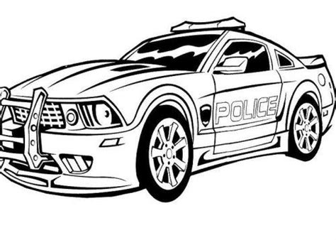 monster pages police cars coloring pages