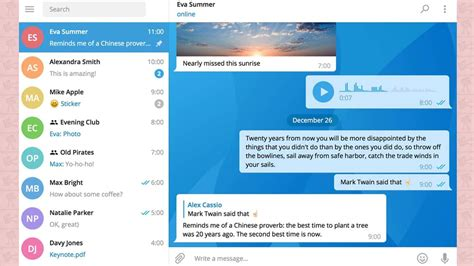 layout app pc telegram desktop app hits version 1 0 with new design and