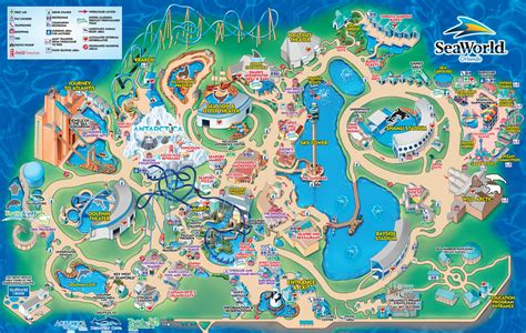 sea world map seaworld park information and guide map for seaworld orlando