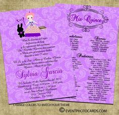 quinceanera program templates 15 invitations seating chart on
