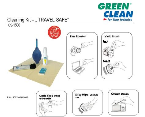 Sprei Vallery 160 Green New Quality cs 1500 cleaning kit for foto audio it and hobby