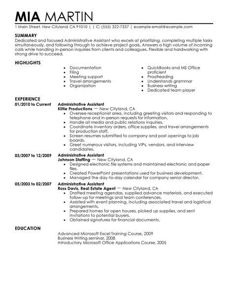 Administrative Assistant Resume Sample by Executive Assistant Resume Ingyenoltoztetosjatekok Com