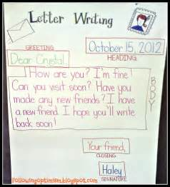 writing a friendly letter template for