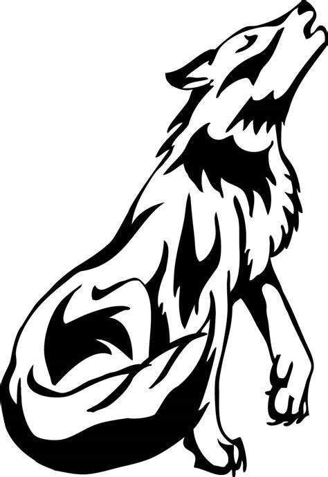 howling wolf tribal tattoo black wolf drawing wolf howl by princesssilvertiger on