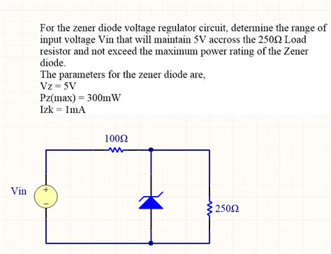 diode circuits explanation for the zener diode voltage regulator circuit det chegg