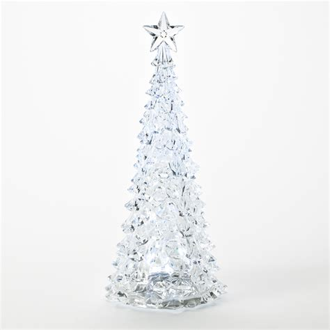 essential home large acrylic led sparkling christmas tree