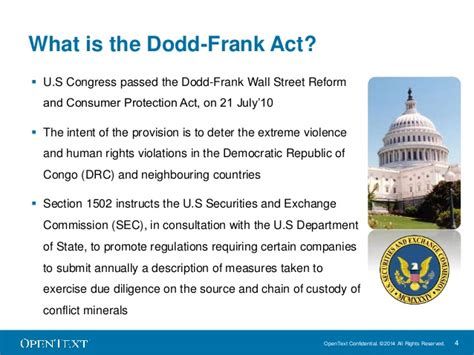 dodd frank act section 1502 removing conflict minerals from global supply chains