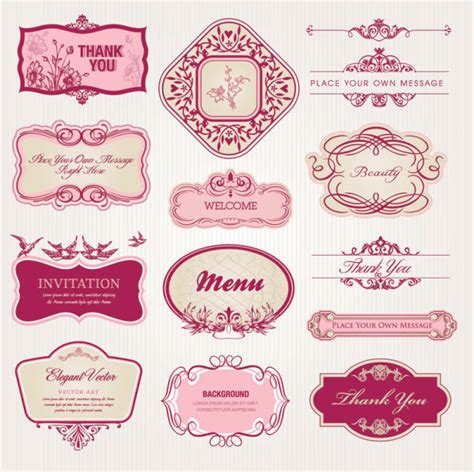 design label free download exquisite european style pattern label vector download