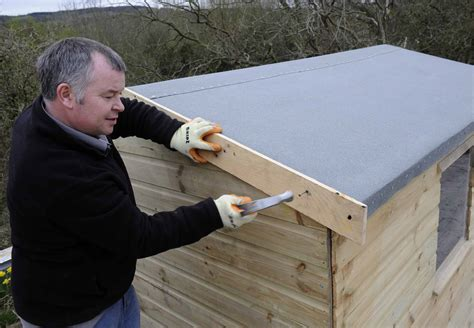 How To Lay Roofing Felt On A Shed by How To Reroof A Shed Shed Roofing Felt Gudie From Iko