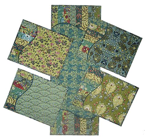 Quilted Placemats To Make by Kits And Fabrics Laurie Shifrin Designs