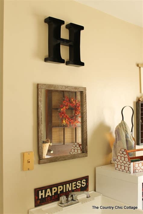 Country Rustic Home Decor Making A Barn Wood Frame The Country Chic Cottage