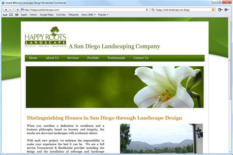 website development happy roots landscaping mito home design interior decorator websites amy seminski