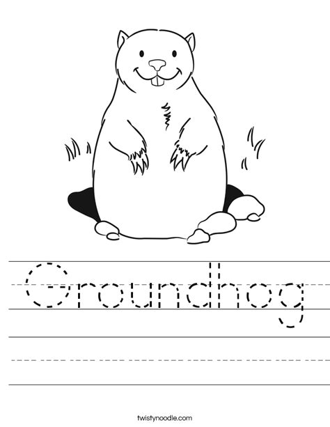 groundhog day kindergarten worksheets groundhog worksheet twisty noodle