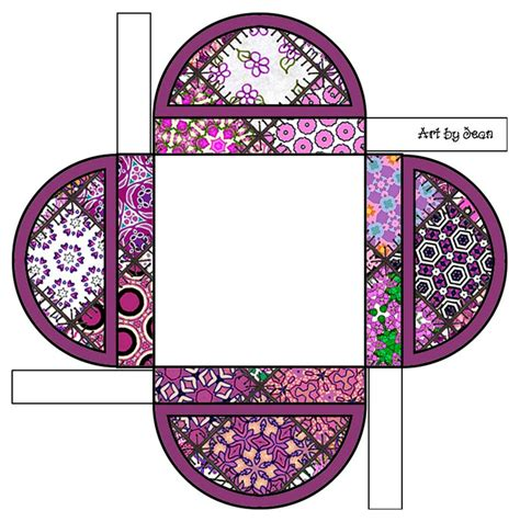 Patchwork Template - printable boxes maroon patchwork pattern