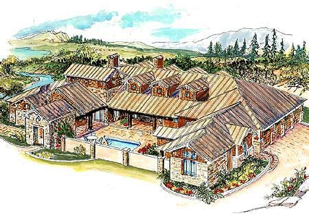 Striking Hill Country Home With Courtyard Hill Country Guest House Plans